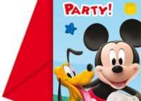 MICKEY MOUSE POZVÁNKA NA PARTY  6 KS